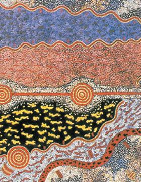 Image:Michael Nelson's Tjakamarra's Five Stories, which sold for A$687,877 at Sothebys in London in 2016. SOTHEBY'S LONDON