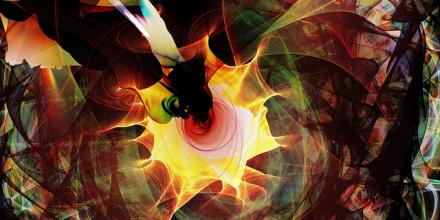 Abstract flame painting image by ellenm1 on Flickr under the CC BY-NC 2.0 license