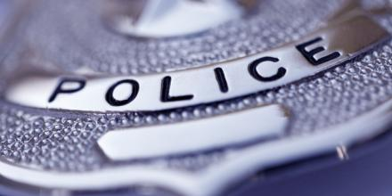 Close up of police badge