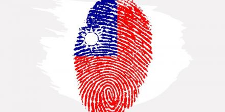 Illustration of Taiwanese flag in a fingerprint pattern by Kurious at https://pixabay.com/images/id-653170/
