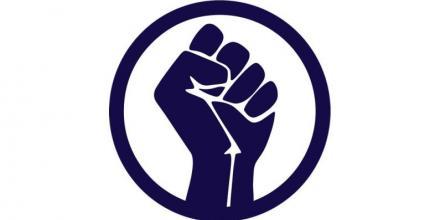 Image of raised fist icon by Radoan_tanvir https://pixabay.com/vectors/raised-fist-fist-icon-logo-hand-6624189/
