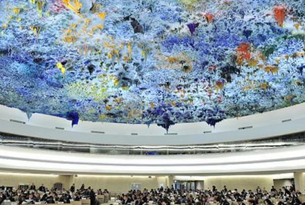 UN Human Rights Council ceiling (Image: Jean-Marc Ferré, Allegra Laboratory)