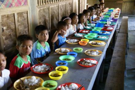 Children at school in Mindanao