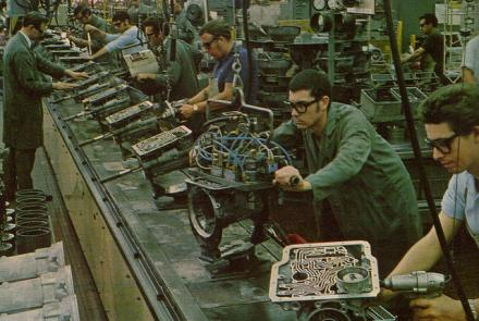 Image: Factory workers at GMH Adelaide in late 1960s