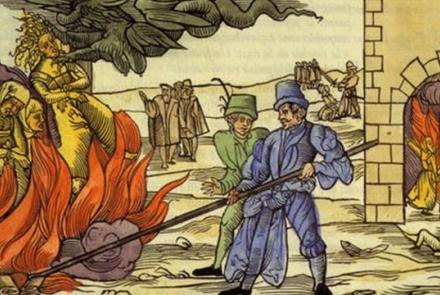 A medieval engraving of the persecution of witches: historians are increasingly demonstrating that belief in witchcraft survived in Western Europe well into the 18th, 19th and even 20th centuries. Wikimedia Commons