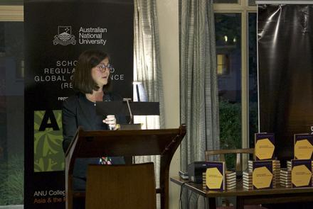 Sharon Friel at the launch of Climate Change and the People's Health.