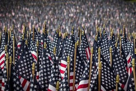 Amerinan flags Image by Jackie Williamson from Pixabay