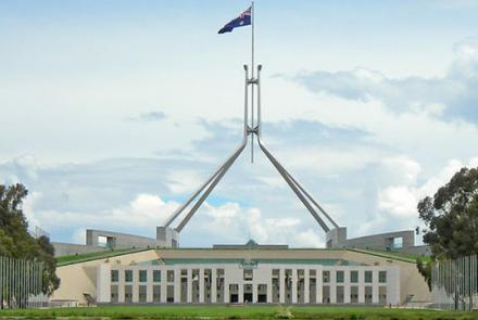 Australian Parliament Building by Hannah Flickr under CC BY-NC 2.0