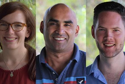 Felicity Gray, Chacko Thomas, Daniel Reeders