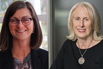 Image: Professors Sharon Friel (left) & Fran Baum (right) (RegNet)