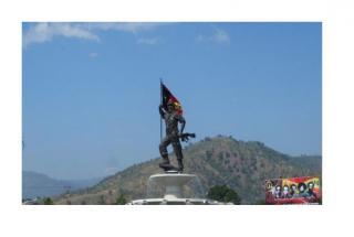 Nicolau Lobato statue, Dili airport