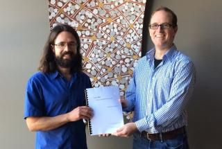Shane, supervisor Jeremy Farrall, and 'Law's rule – Liberia and the rule of law'
