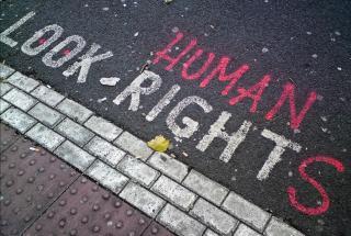 Street art: Look Human Rights