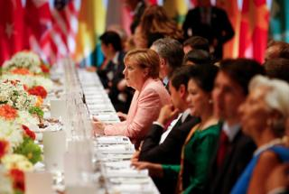 Places at the table: the G20 is adept at harnessing the commitment and resources of other international organisations to its own agenda. Kay Nietfeld/Reuters Pool/DPA