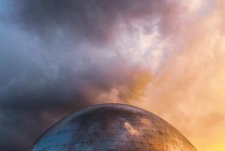Metalic dome structure, Photo by Behzad Ghaffarian on Unsplash under Unsplash