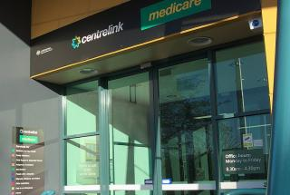 Entrance to the Centrelink building in Burnie