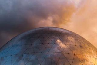 Metalic dome structure. Image by Behzad Ghaffarian on Unsplash under Unsplash Licence