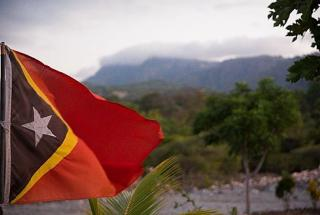 Image: 'Flag of Timor-Leste', taken by Isabel Nolasco (2015), CC BY-SA 4.0 <https://creativecommons.org/licenses/by-sa/4.0>, via Wikimedia Commons. disclaimer: Image has not been altered in anyway.