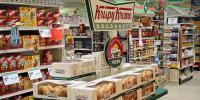 Supermarket snack food aisle