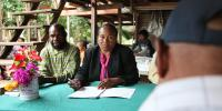 Village Magistrate Linda Rau from Kila Kila Village Court outside Port Moresby (DFAT, Flickr)