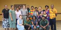 Dr Forsyth and colleagues in PNG