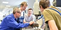 Vocational education students and teacher