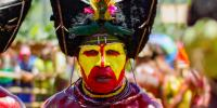 Man in PNG traditional festival