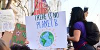 Person holding there is no planet B poster (2019)