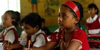 Bengali school children attribute to Asian Development Bank