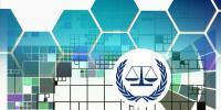 Justice symbol on background