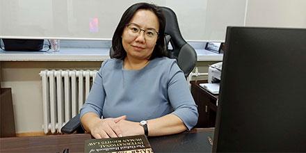 Dr Ganbat in her office